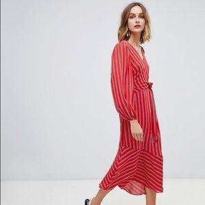 Warehouse Wrap Midi Dress